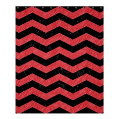 Chevron3 Black Marble & Red Colored Pencil Shower Curtain 60  X 72  (medium)  by trendistuff