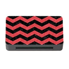 Chevron3 Black Marble & Red Colored Pencil Memory Card Reader With Cf by trendistuff