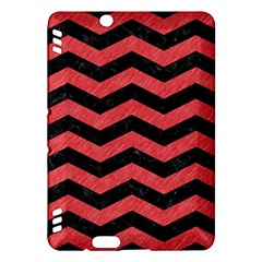 Chevron3 Black Marble & Red Colored Pencil Kindle Fire Hdx Hardshell Case by trendistuff