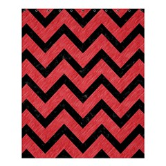 Chevron9 Black Marble & Red Colored Pencil Shower Curtain 60  X 72  (medium)  by trendistuff