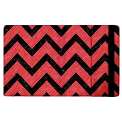Chevron9 Black Marble & Red Colored Pencil Apple Ipad 2 Flip Case by trendistuff