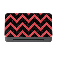 Chevron9 Black Marble & Red Colored Pencil (r) Memory Card Reader With Cf by trendistuff