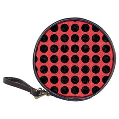 Circles1 Black Marble & Red Colored Pencil Classic 20 Cd Wallets by trendistuff