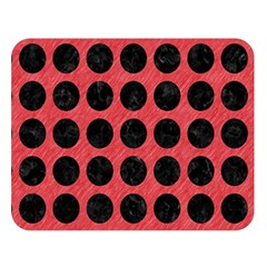 Circles1 Black Marble & Red Colored Pencil Double Sided Flano Blanket (large)  by trendistuff