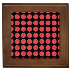 Circles1 Black Marble & Red Colored Pencil (r) Framed Tiles by trendistuff