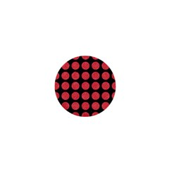 Circles1 Black Marble & Red Colored Pencil (r) 1  Mini Buttons