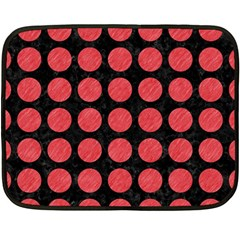 Circles1 Black Marble & Red Colored Pencil (r) Fleece Blanket (mini) by trendistuff
