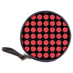 Circles1 Black Marble & Red Colored Pencil (r) Classic 20 Cd Wallets by trendistuff