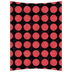 Circles1 Black Marble & Red Colored Pencil (r) Back Support Cushion by trendistuff