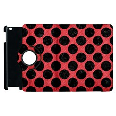 Circles2 Black Marble & Red Colored Pencil Apple Ipad 2 Flip 360 Case by trendistuff