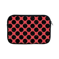 Circles2 Black Marble & Red Colored Pencil Apple Ipad Mini Zipper Cases by trendistuff