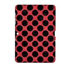 Circles2 Black Marble & Red Colored Pencil Samsung Galaxy Tab 2 (10 1 ) P5100 Hardshell Case  by trendistuff