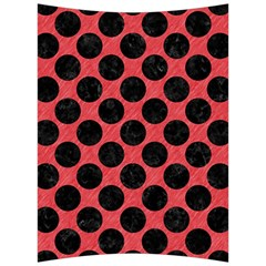 Circles2 Black Marble & Red Colored Pencil Back Support Cushion
