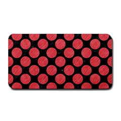 Circles2 Black Marble & Red Colored Pencil (r) Medium Bar Mats by trendistuff