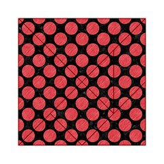 Circles2 Black Marble & Red Colored Pencil (r) Acrylic Tangram Puzzle (6  X 6 ) by trendistuff