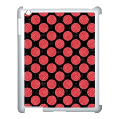 Circles2 Black Marble & Red Colored Pencil (r) Apple Ipad 3/4 Case (white) by trendistuff
