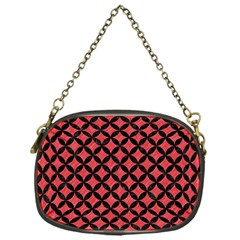 Circles3 Black Marble & Red Colored Pencil Chain Purses (one Side)  by trendistuff