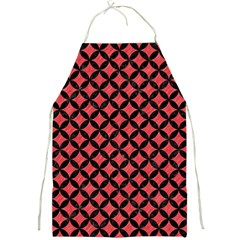 Circles3 Black Marble & Red Colored Pencil Full Print Aprons by trendistuff