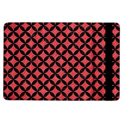 Circles3 Black Marble & Red Colored Pencil Ipad Air Flip by trendistuff