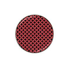 Circles3 Black Marble & Red Colored Pencil (r) Hat Clip Ball Marker by trendistuff