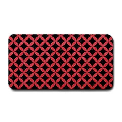 Circles3 Black Marble & Red Colored Pencil (r) Medium Bar Mats by trendistuff