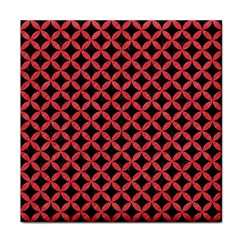 Circles3 Black Marble & Red Colored Pencil (r) Face Towel by trendistuff