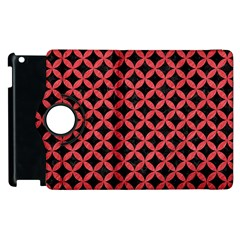 Circles3 Black Marble & Red Colored Pencil (r) Apple Ipad 3/4 Flip 360 Case by trendistuff