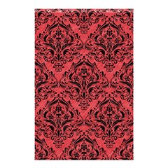 Damask1 Black Marble & Red Colored Pencil Shower Curtain 48  X 72  (small)  by trendistuff