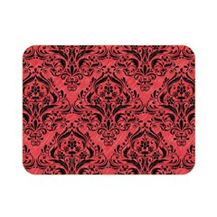 Damask1 Black Marble & Red Colored Pencil Double Sided Flano Blanket (mini)  by trendistuff