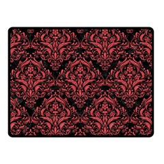 Damask1 Black Marble & Red Colored Pencil (r) Double Sided Fleece Blanket (small)  by trendistuff