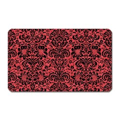 Damask2 Black Marble & Red Colored Pencil Magnet (rectangular) by trendistuff