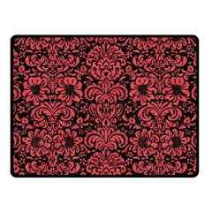 Damask2 Black Marble & Red Colored Pencil (r) Fleece Blanket (small) by trendistuff