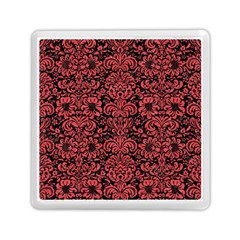 Damask2 Black Marble & Red Colored Pencil (r) Memory Card Reader (square)  by trendistuff