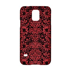 Damask2 Black Marble & Red Colored Pencil (r) Samsung Galaxy S5 Hardshell Case  by trendistuff