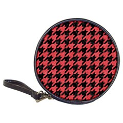 Houndstooth1 Black Marble & Red Colored Pencil Classic 20 Cd Wallets by trendistuff