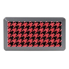 Houndstooth1 Black Marble & Red Colored Pencil Memory Card Reader (mini) by trendistuff