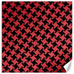 Houndstooth2 Black Marble & Red Colored Pencil Canvas 20  X 20   by trendistuff