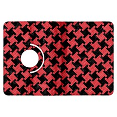 Houndstooth2 Black Marble & Red Colored Pencil Kindle Fire Hdx Flip 360 Case by trendistuff