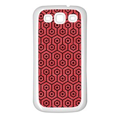 Hexagon1 Black Marble & Red Colored Pencil Samsung Galaxy S3 Back Case (white) by trendistuff