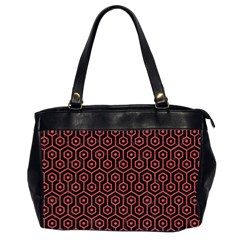 Hexagon1 Black Marble & Red Colored Pencil (r) Office Handbags (2 Sides)  by trendistuff