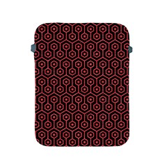Hexagon1 Black Marble & Red Colored Pencil (r) Apple Ipad 2/3/4 Protective Soft Cases by trendistuff