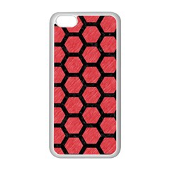 Hexagon2 Black Marble & Red Colored Pencil Apple Iphone 5c Seamless Case (white) by trendistuff