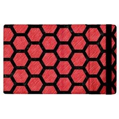 Hexagon2 Black Marble & Red Colored Pencil Apple Ipad Pro 9 7   Flip Case by trendistuff