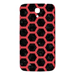 Hexagon2 Black Marble & Red Colored Pencil (r) Samsung Galaxy Mega I9200 Hardshell Back Case by trendistuff