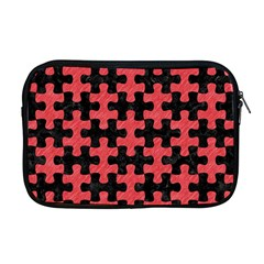 Puzzle1 Black Marble & Red Colored Pencil Apple Macbook Pro 17  Zipper Case by trendistuff