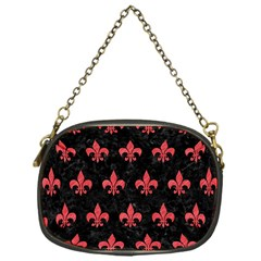 Royal1 Black Marble & Red Colored Pencil Chain Purses (one Side)  by trendistuff