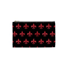 Royal1 Black Marble & Red Colored Pencil Cosmetic Bag (small)  by trendistuff