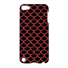 Scales1 Black Marble & Red Colored Pencil (r) Apple Ipod Touch 5 Hardshell Case by trendistuff