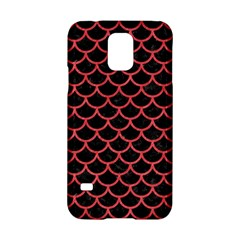 Scales1 Black Marble & Red Colored Pencil (r) Samsung Galaxy S5 Hardshell Case  by trendistuff