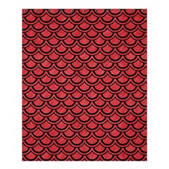 Scales2 Black Marble & Red Colored Pencil Shower Curtain 60  X 72  (medium)  by trendistuff